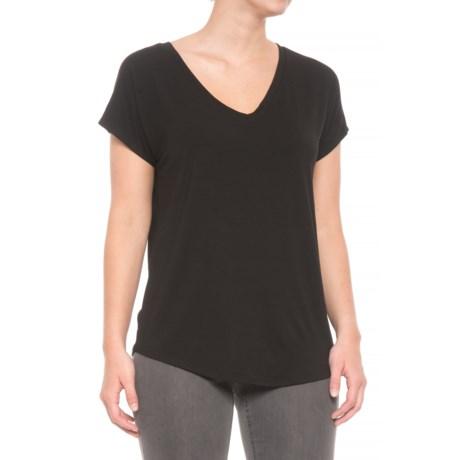 Maison Cinqcent Crossover Shirt - Short Sleeve (For Women) in Black