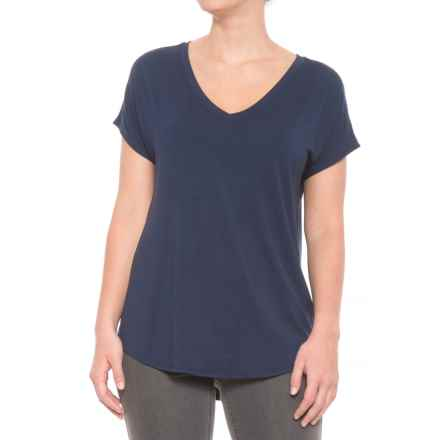 Maison Cinqcent Crossover Shirt - Short Sleeve (For Women) in Navy - Closeouts