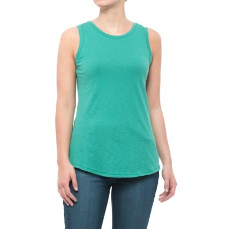 Maison Cinqcent Overlock Stitch Tank Top - Pima Cotton (For Women) in Juniper Leaf