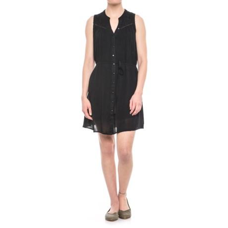 Maison Coupe Lace Yoke Dress - Sleeveless (For Women) in Black