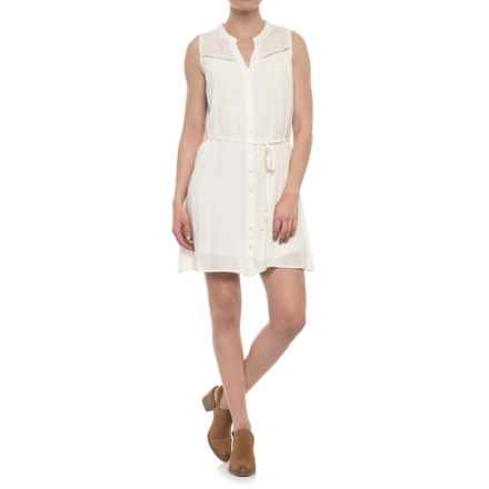 Maison Coupe Lace Yoke Dress - Sleeveless (For Women) in Off White - Closeouts