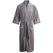 Majestic Key West Robe - French Terry, Long Sleeve (For Men) in 025 Grey - Closeouts