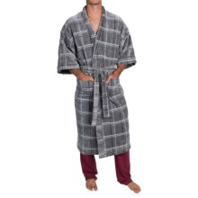 Majestic Kimono Robe - Long Sleeve (For Men) in Gray - Closeouts
