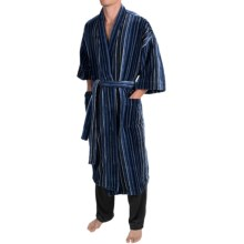 Majestic Kimono Robe - Long Sleeve (For Men) in Navy - Closeouts