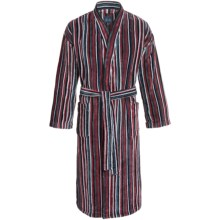 Majestic Kimono Robe - Long Sleeve (For Men) in Red - Closeouts