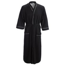 Majestic Knit Kimono Robe - Cotton, Long Sleeve (For Men) in Black - Closeouts