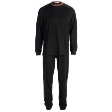 Majestic Knit Pajamas - Cotton, Long Sleeve (For Men) in Black - Closeouts