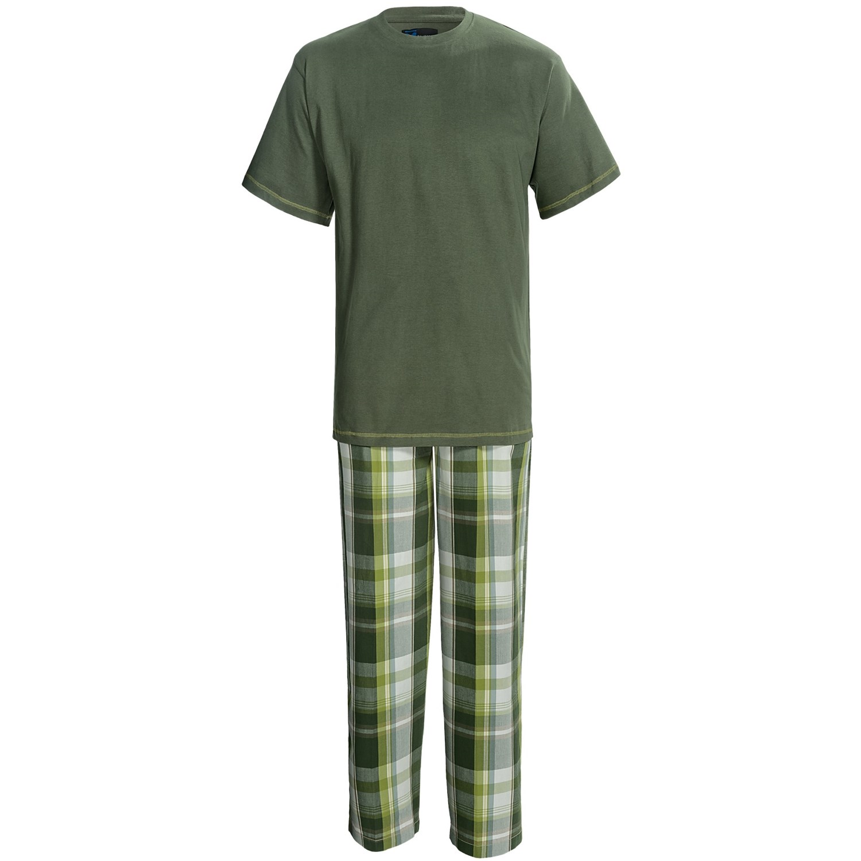 Majestic T Shirt And Lounge Pants Set Cotton Short