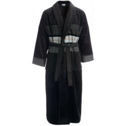 Majestic Tracks Robe - Cotton Velour, Long Sleeve (For Men) in Black
