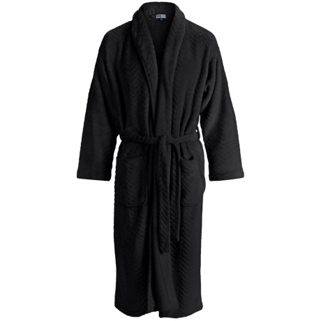 Majestic Weathervane Robe - Fleece, Long Sleeve (For Men) in Black