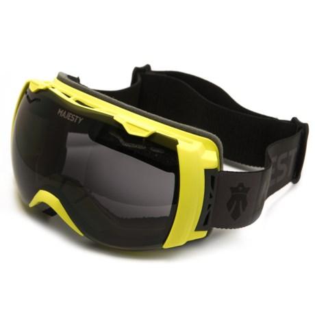 Majesty Spectrum Ski Goggles - Extra Lens in Lime/Black Pearl