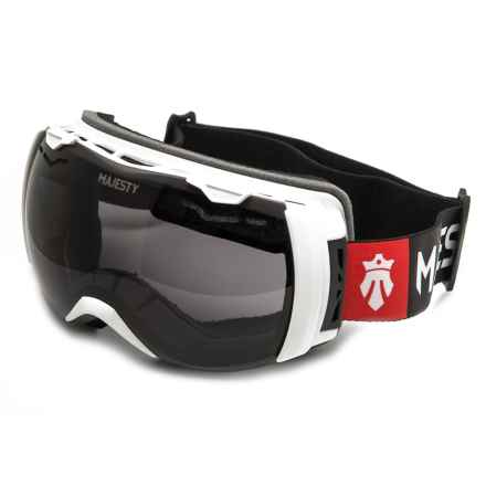 Majesty Spectrum Ski Goggles - Extra Lens in White/Black Pearl - Closeouts