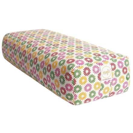 maji Rectangular Yoga Bolster in Daisy - Closeouts