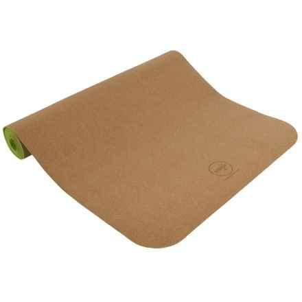 Maji Sports Cork Yoga Mat in Green - Overstock