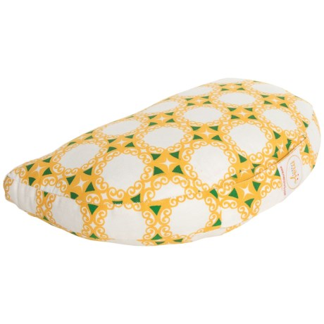Maji Sports Om Zafu Meditation Cushion in Yellow Green Tile