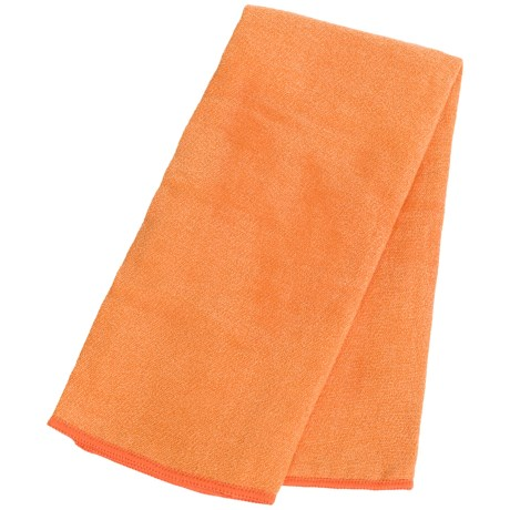 Maji Sports Skidless Terry Premium Microfiber Sandwash Hand Towel in Orange