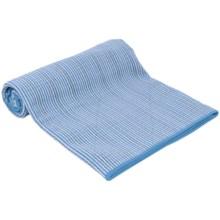 Maji Sports The Fusion Hot Yoga Towel/Mat in Blue - Closeouts