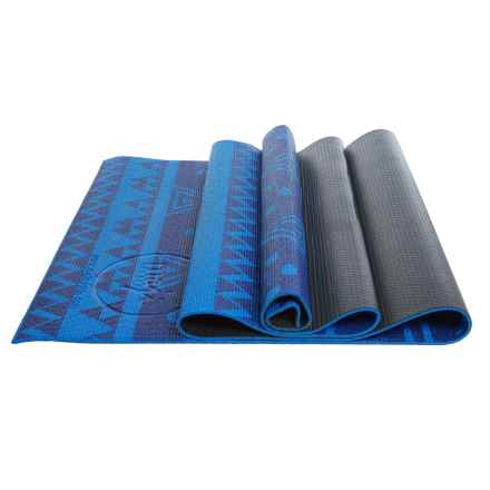 Maji Sports Two-Tone Yoga Mat - PVC in Blue/Black - Overstock