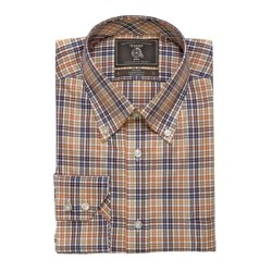 Maker & Company Fancy Multi-Check Sport Shirt - Brushed Twill, Long Sleeve (For Men) in Grey/Blue