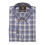 Maker & Company Fancy Multi-Check Sport Shirt - Brushed Twill, Long Sleeve (For Men)