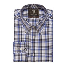 Maker & Company Fancy Multi-Check Sport Shirt - Brushed Twill, Long Sleeve (For Men) in Grey/Blue - Closeouts
