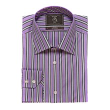 Maker & Company Fancy Multi-Stripe Sport Shirt - Long Sleeve (For Men) in Purple - Closeouts