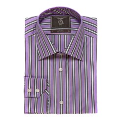Maker & Company Fancy Multi-Stripe Sport Shirt - Long Sleeve (For Men) in Purple