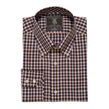 Maker & Company Oxford Check Sport Shirt - Long Sleeve (For Men) in Black/Brown/Orange - Closeouts