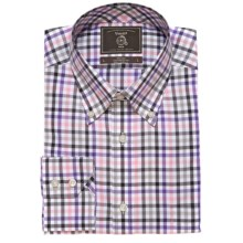 Maker & Company Oxford Check Sport Shirt - Long Sleeve (For Men) in Grey/Pink/Purple - Closeouts