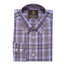 Maker & Company Plaid Sport Shirt - Long Sleeve (For Men) in Lavender/Lime - Closeouts