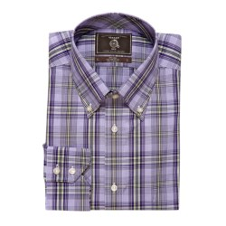 Maker & Company Plaid Sport Shirt - Long Sleeve (For Men) in Lavender/Lime