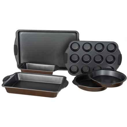 Maker Homeware Easy Grip Nonstick Bakeware Set - 6-Piece in Copper Bronze - Closeouts