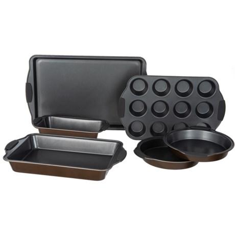 Maker Homeware Easy Grip Nonstick Bakeware Set - 6-Piece in Copper Bronze