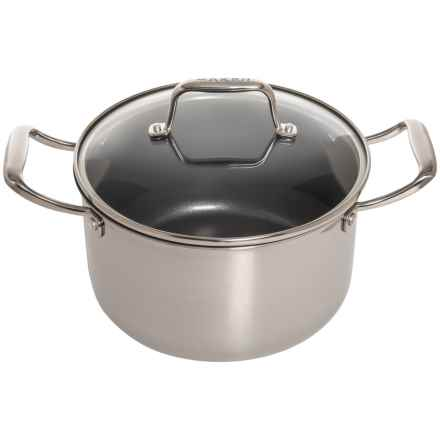 Maker Homeware Nonstick Stainless Steel Dutch Oven with Lid - 5 qt. in Stainless Steal - Closeouts