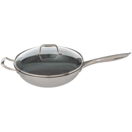 """Maker Homeware Nonstick Stainless Steel Wok - 12"""" in Stainless Steal - Closeouts"""