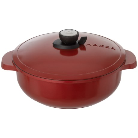 Maker Homeware Shallow SmartSteam® Pot with Lid - 5 qt. in Crimson Red
