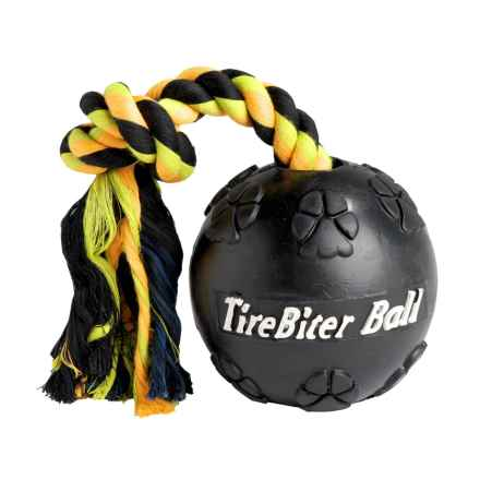 Mammoth Pet Products Tire Dog Toys in Yellow Green Ropetirebiter - Closeouts