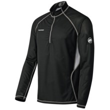 Mammut Active Shirt - Zip Neck, Long Sleeve (For Men) in Black - Closeouts