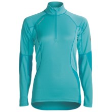Mammut All-Year Base Layer Top - Zip Neck, Long Sleeve (For Women) in Turquoise - Closeouts