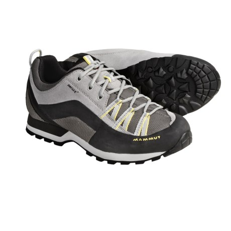 Mammut Borah DLX Leather Trail Shoes (For Women) in Light Grey/Sunshine