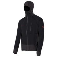 Mammut Kala Pattar Tech Hooded Fleece Jacket (For Men) in Black/Graphite - Closeouts