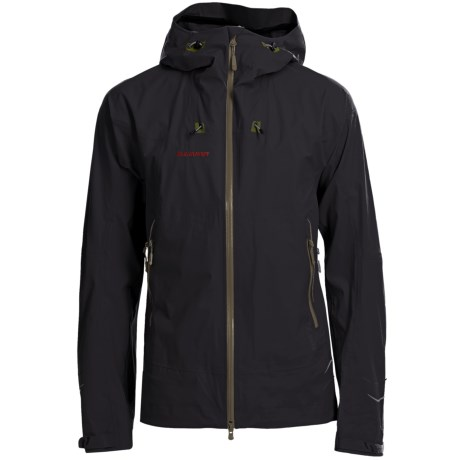 Mammut Lanin Gore-Tex® Jacket - Waterproof (For Men) in Black/Ivy