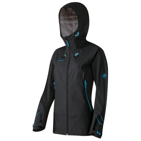 Mammut Larain Gore-Tex® Ski Jacket - Waterproof (For Women) in Black/Ocean