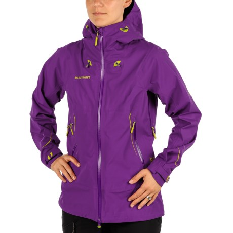 Mammut Larain Gore-Tex® Ski Jacket - Waterproof (For Women) in Dark Bloom/Peridot