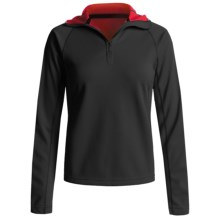 Mammut Outline Pullover Hooded Sweater - Fleece, Zip Neck (For Women) in Black - Closeouts