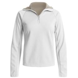 Mammut Outline Pullover Hooded Sweater - Fleece, Zip Neck (For Women) in Black