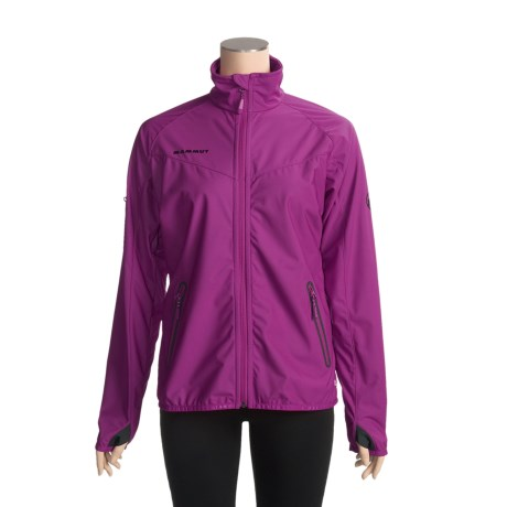 Mammut Rash Soft Shell Jacket - Windstopper® (For Women) in Pansy