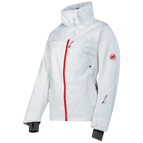 Mammut Robella Jacket - Waterproof, Insulated (For Women) in White/Poppy