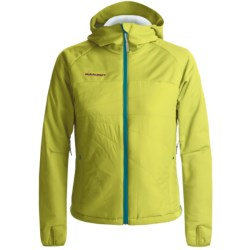 Mammut Stratus Hybrid Soft Shell Jacket (For Women) in Lime