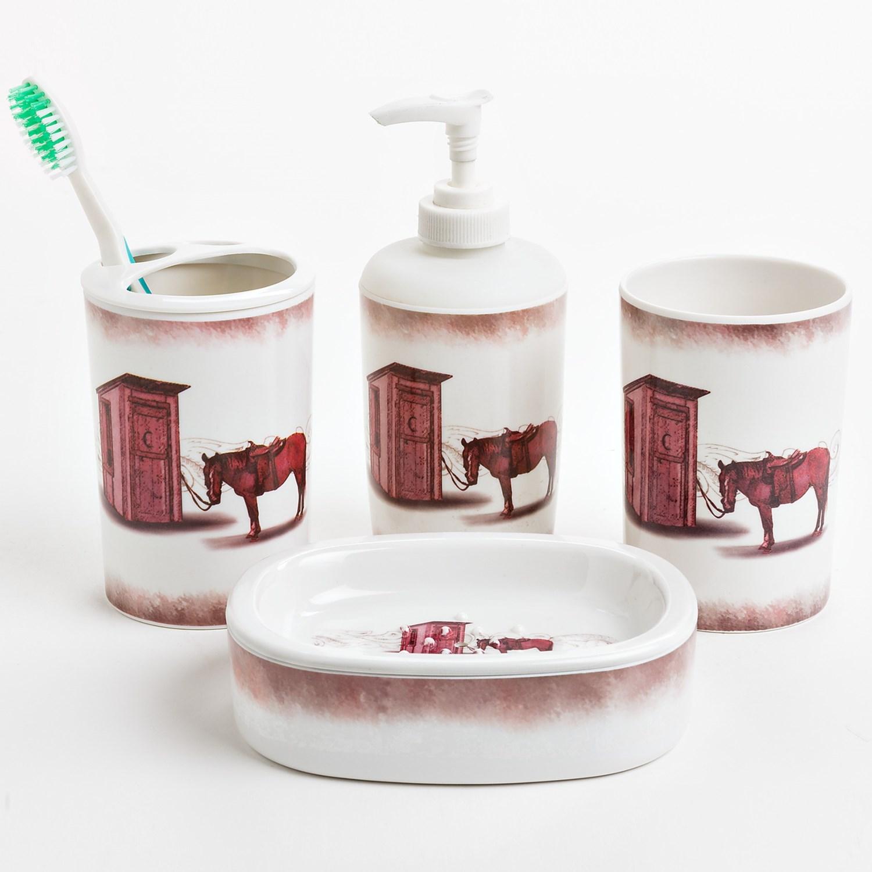 M f western bathroom set 4 piece save 66 for Bathroom 4 piece set